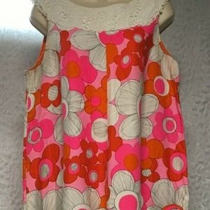 Vintage 70's Ja-Na of Hawaii Orange Pink Retro